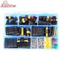 1 Box AMP Kit 1/2/3/4/5/6 Pin Female Male Waterproof Car Electrical Wire Cable Automotive Connector Car Plug Terminal