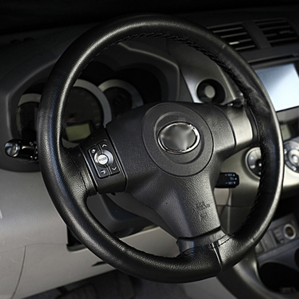 Universal Black Super Fiber Leather DIY Hand -stitched Car Steering Wheel Cover For Volkswagen 5 For VW For Passat B5 Hot