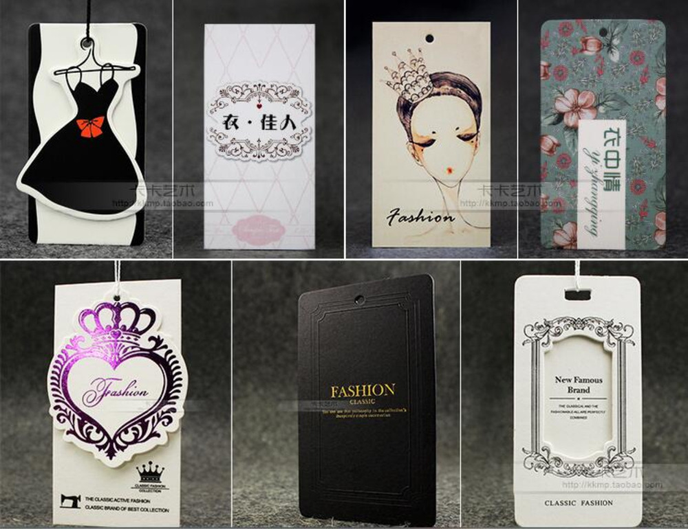 Free Design Custom Paper Hang Tags/Clothing Printed Swing Tag/garment Tag/Labels For Clothes Personized Logo Custom Printing