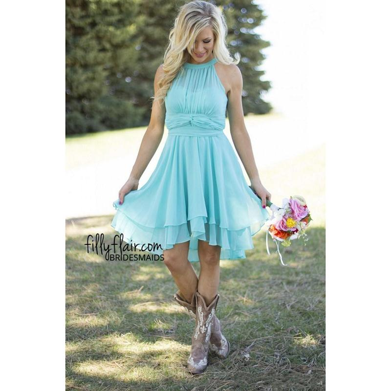 Popular Turquoise Bridesmaid Dresses Country-Buy Cheap Turquoise ...