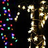LED Christmas Lighting Star Model 80LEDs 10 Meters Warm White Colorful Warm White 3AA Battery Box
