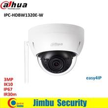 Dahua IP wifi camera 3mp IPC-HDBW1320E-W wifi camera p2p easy4ip cctv Camera Micro SD card slot, up to 128GB