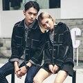 2017 Korean Spring & Autumn Mens Designer Jackets Black Demin Jacket Harajuku Oversized Jean Jacket Man Women Slim Fit Overcoats