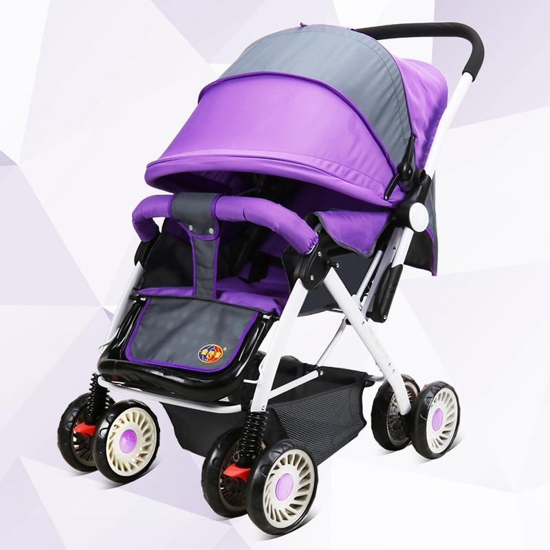 New Arrival Baby Stroller High Landscape Pushchair Pram Buggy Lightweight Umbrella Strollers 4 Wheels Baby Carriage