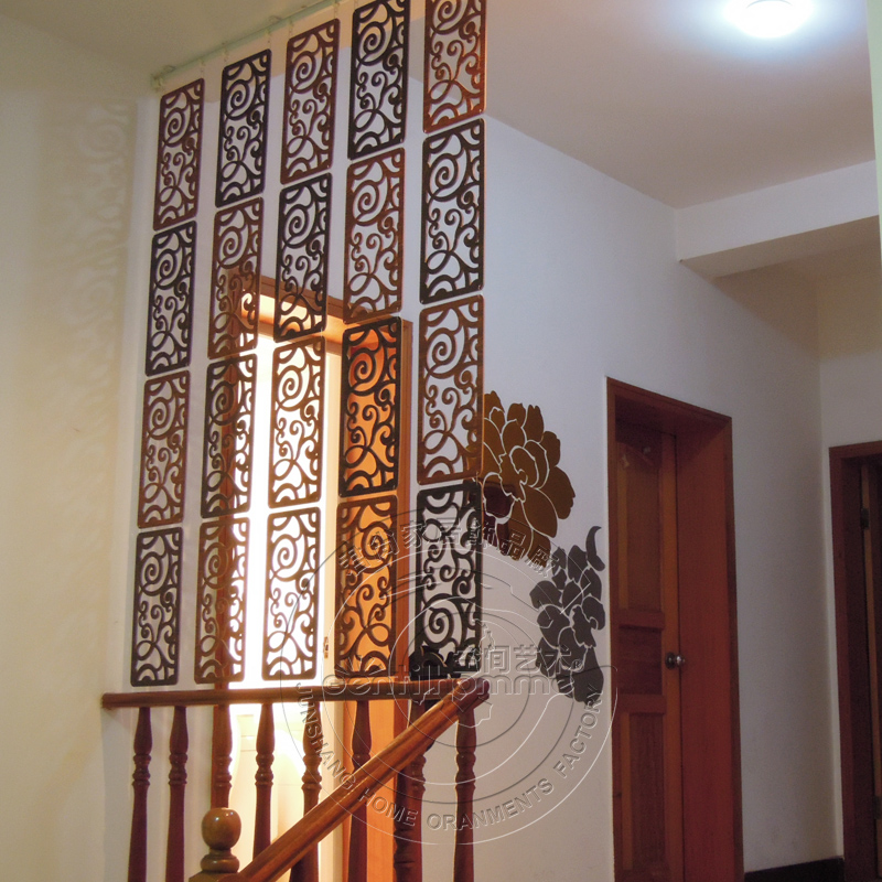 1 piece fashionable rectangle 100 carved wooden hanging screen