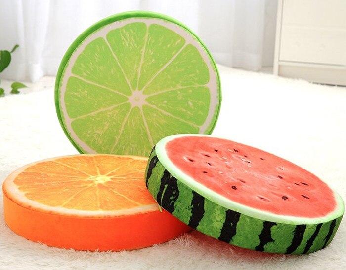 Stofftiere & Plüsch Babiqu 1 Stück Simulation Obst Kissen Wassermelone Orange Grapefruit Kiwi Plüsch Spielzeug Weiche Angefüllte Kissen Lebensechte Obst Kreative Geschenk