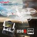 HQ898B 2.4G 4CH 6-Axis RC Quadcopter Drone Com Wifi FPV HD Camera Smartphone Controle Indução Gravidade HQ 898B kvadrokopter