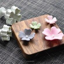 DIY 3pcs/lot spring baking tool fondant cake decorating sugar cutter flower Four Leaf Clover shape plum cutting mold