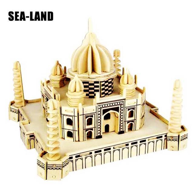 Un Jouets Pour Enfants 3D puzzle en bois Le Taj Mahal Un jouets pour enfants Également convient pour Adulte bricolage Jeu Un Meilleur Cadeau De qualité supérieure Bois