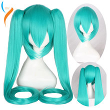 2019 New Fashion  Hatsune Miku Wig Black Rock Shooter Senbon Zakura Cosplay Wig Long Synthetic Hair Chip Ponytails + Wig Cap epacket free shipping 001894 cos pink and black mix long curly cosplay wig two ponytails