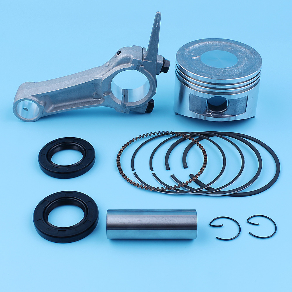 68mm Piston Ring Pin Oil Seal Connecting Rod Kit For Honda GX160 5 5HP GX200 6 5HP 168F 170F Engine Generator Water Pump