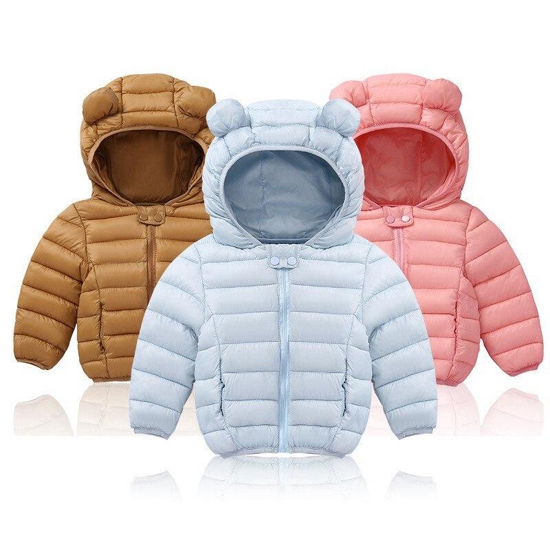 COOTELILI Cute Bear Children's Parkas Winter Jacket For Girls Boys Infant Overcoat Winter Children Coats Warm Kids Jacket Baby  (9)