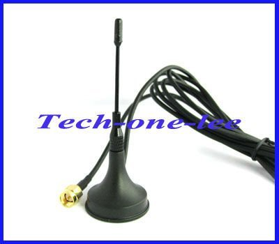 GSM Antenna 900-1800 Mhz 5dbi SMA male plug straight with Magnetic base Aerial free shipping