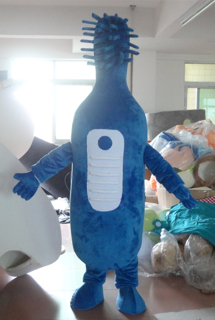High quality export high quality blue toothbrush mascot costume for adults free shipping Party special clothing image