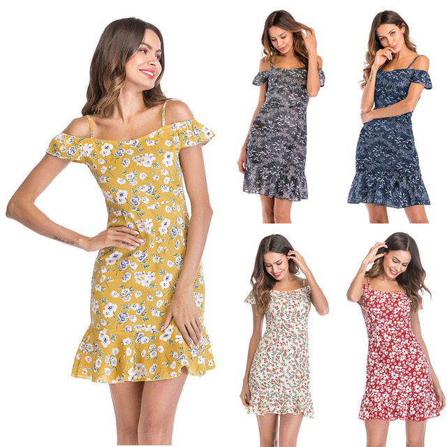 b413b25578c0 2018 Summer Women Vintage Strappy Loose Casual Sleeveless Cotton Linen  Party Beach Floral Printed Knee Long Dress Full Color