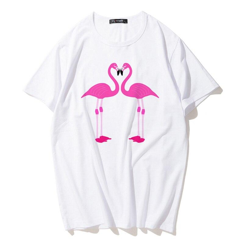 2017 Do Tumblr Flamingo Rosa Quente Do Verao T Shirt Dos Desenhos