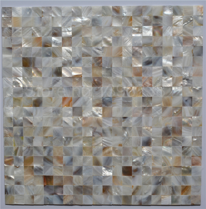 Delicate design Natural luster mother pearl shell tiles Backsplash Mosaic Tiles for Bathroom wall meshback DIY sticker,LSBK1004 environmentally friendly pvc inflatable shell water floating row of a variety of swimming pearl shell swimming ring