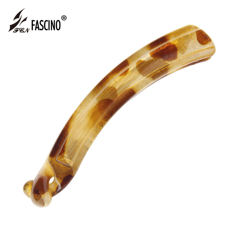 6 Colors Resin Hair Accessories Female Fashion Jewelry Long Curved Banana Barrettes Hair Clips For Women Girls (LG830005)