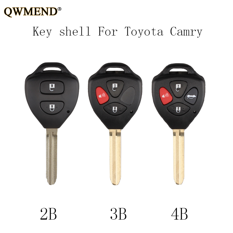 QWMEND Fob Remote-Key-Shell 2009 2008 Corolla Avalon Toyota Camry 2007 Qwmend-2-3-4-Buttons
