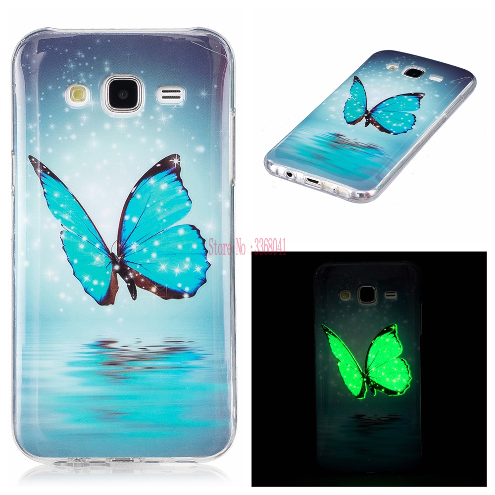 Luminous Case for <font><b>Samsung</b></font> Galaxy J 5 2015 <font><b>SM</b></font> J500 J500F J500H J500FN TPU Soft phone Cover for <font><b>Samsung</b></font> J 7 2015 J700P <font><b>J700H</b></font> J700M image