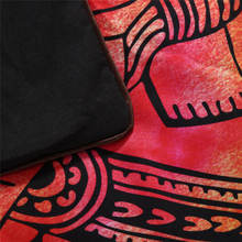 BeddingOutlet 5pcs Bed in a Bag Colored Elephant Bedding Set Tree Pattern Bohemia Bedspread Black Bed Cover USA Size