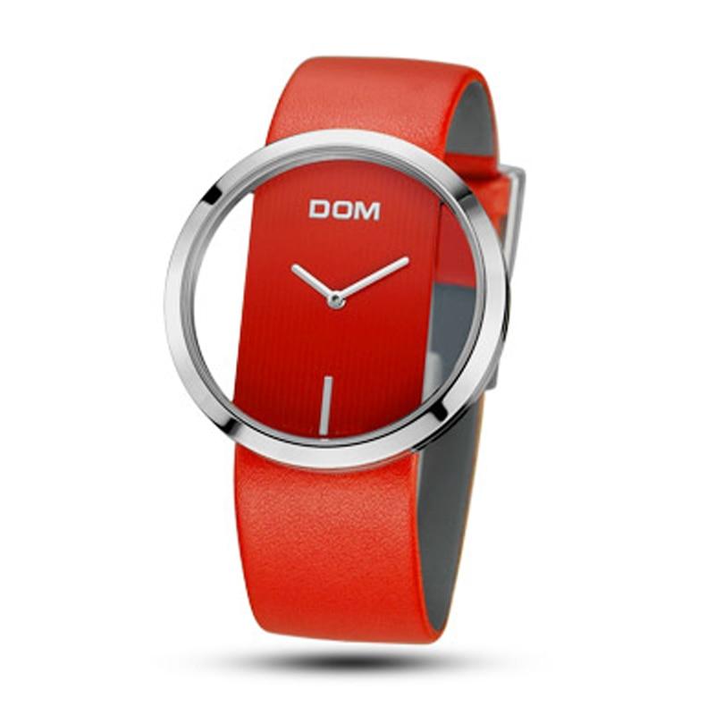 DOM женщина женские часы кварцевые часы женские наручные часы лучший бренд класса люкс для девочек Часы Простой полые relogio feminino