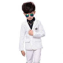 Children's suit 2018 spring new style boys suit fashion striped Slim children's clothing set 2 pieces / set