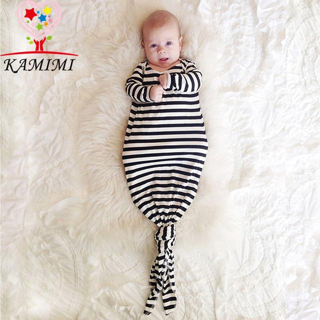 KAMIMI Nonopnd Amantes de la raya de Otoño Ropa de Dormir de Franela Bebé y oso de Manga Larga Infantil ropa de Dormir de Bebé Homewear suave