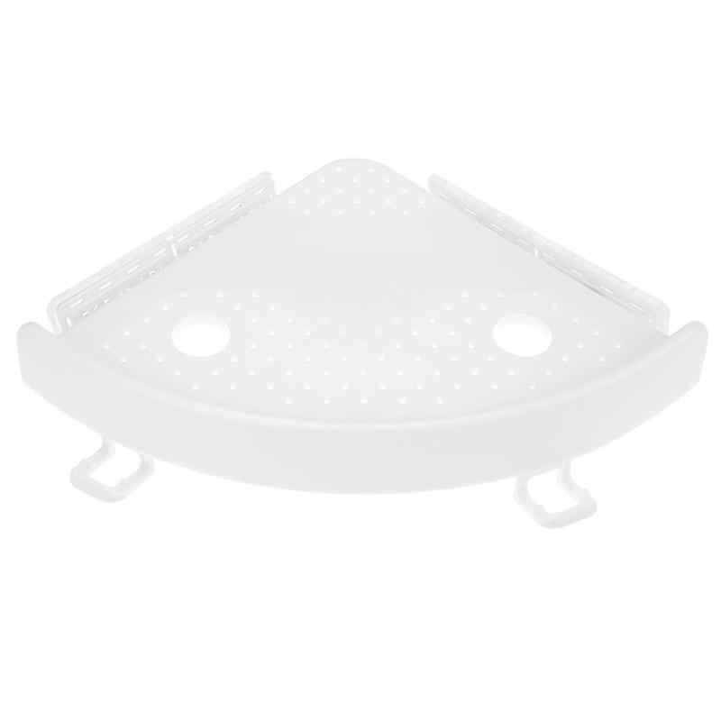 욕실 선반 주최자 코너 선반 캐디 욕실 플라스틱 코너 선반 샤워 스토리지 벽 홀더 아기 수건 샴푸 홀더