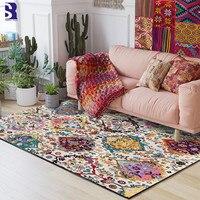 SunnyRain 1 piece Bohemia Carpet for Living Room Area Rug Short Plush Bed Room Carpet Large Size Slipping Resistance Kitchen Rug