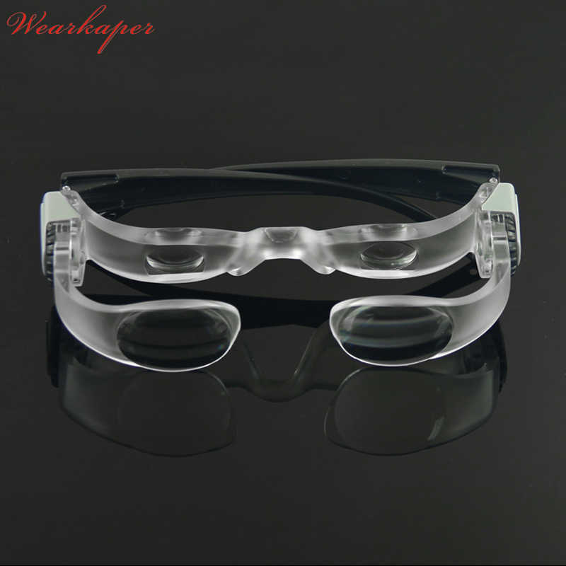 d1b01a1beb WEARKAPER adjustment Reading Glasses TV Glasses Magnifier Lens Loupe -300  Degree Goggles Portable 2.1X