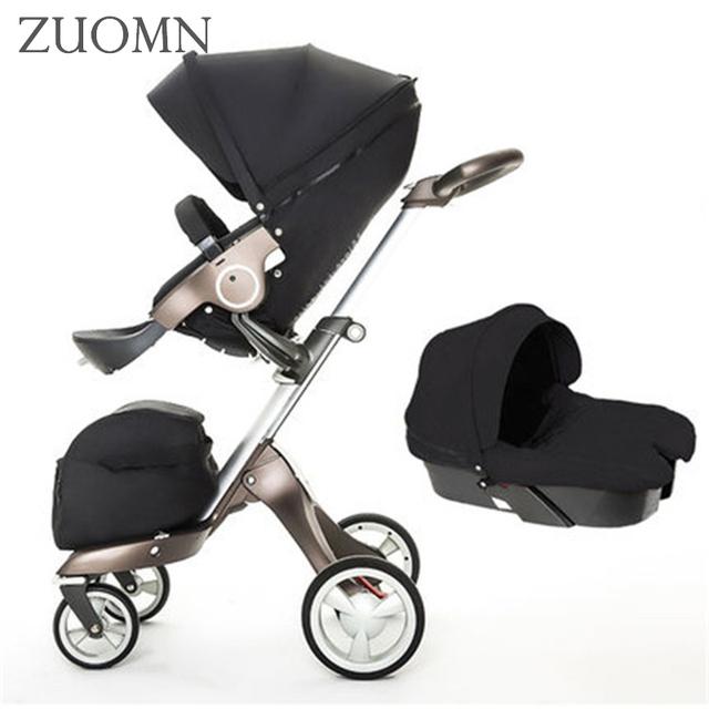 Nuevos Cochecitos de Bebé 3 En 1 Cochecitos de Bebé Plegable de Kinderwagen GH352 Carros Cochecito Paisaje de Alta Calidad de Lujo