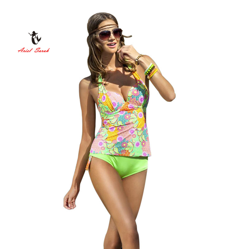 Ariel Sarah Brand 2017 New Push Up Bikinis Set Tankini BeachWear Bathsuit Swimwear Women Swimsuit Biquini Summer Style Bikini женское бикини bikini new brand 2015 push up women bikinis set
