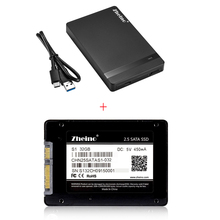 S1 32 ГБ 2,5 дюймов SATA3 SSD Zheino Internal Solid дисков MLC жесткий диск с USB 3,0 Тип A -Тип C внешний жесткий диск случае