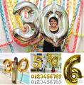 1 unids/lote 30 pulgadas pulgadas de lámina de mylar oro plata número globos de figuras pelotas inflables globos decoración del partido de cumpleaños nuevo año