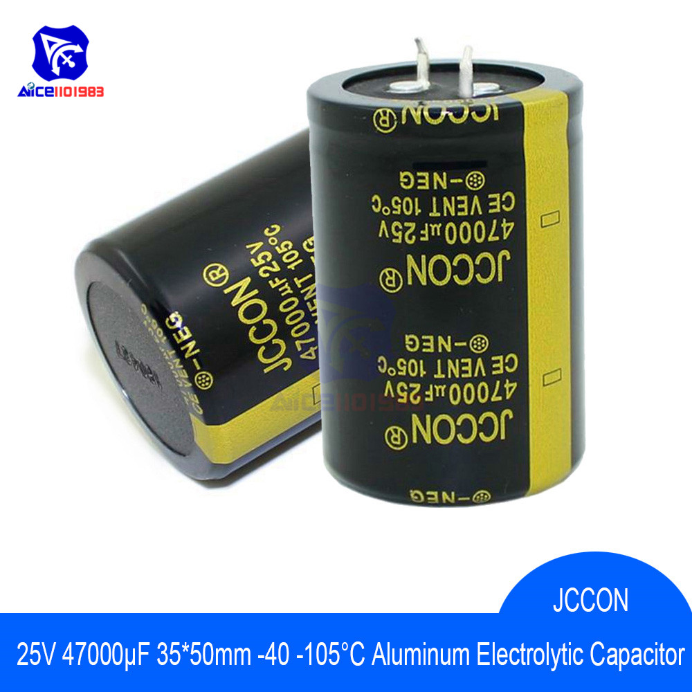 Aluminum Electrolytic Capacitor 25V 47000uF 35x50mm High Frequency Low ESR 25V47000μF 35*50mm Capacitor