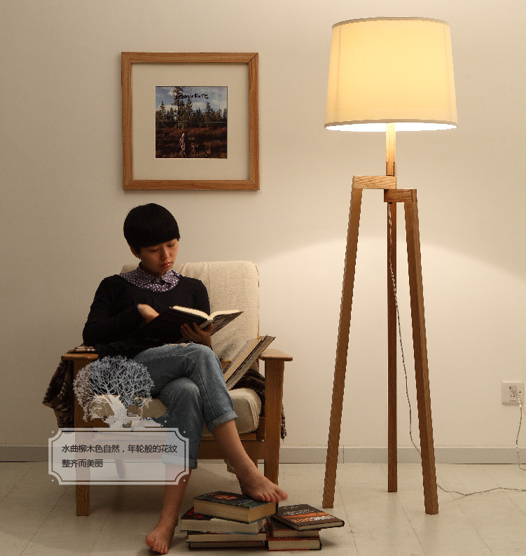 Nordic IKEA Wood Floor Lamp , Modern Living Room Bedroom Ash Wood Tripod  Lamp Designer In Floor Lamps From Lights U0026 Lighting On Aliexpress.com |  Alibaba ...
