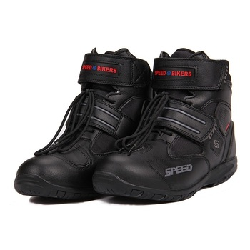 Sports Motorcycle Boots Riding Tribe SPEED BIKERS Comfortably  Moto Racing Boots Motocross Motorbike Shoes A005 Black/White/Red