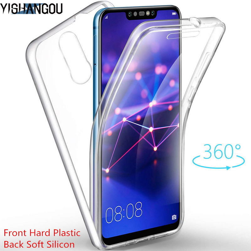 2in1 Front Back Full Body <font><b>360</b></font> Cover Phone <font><b>Case</b></font> For <font><b>Huawei</b></font> P30 P20 Mate 20 10 30 Lite Honor 20 Pro 8X P Smart Plus <font><b>Y9</b></font> Y6 Y7 <font><b>2019</b></font> image