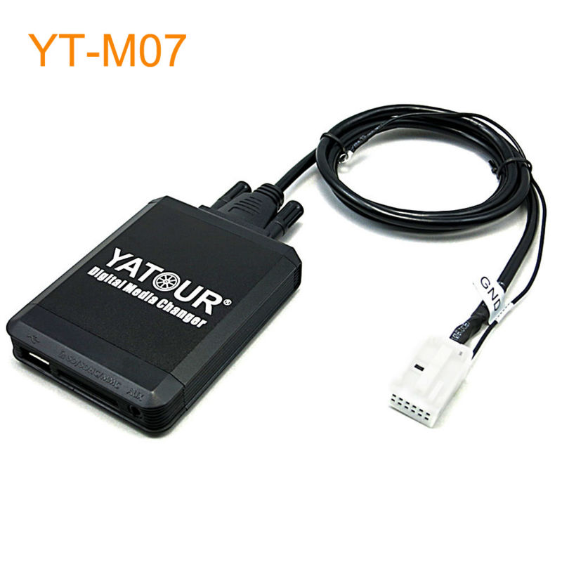 Yatour M07 Car MP3 USB SD CD Changer for iPod AUX with Optional Bluetooth for Audi A3 A4 S4 TT R8 yatour car mp3 usb sd cd changer for ipod aux with optional bluetooth for toyota carina celica coaster highlander land cruiser