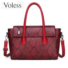 Summer Bags Women Handbag 2019 Large Capacity Tote Bag Vintage Serpentine Leather Ladies Tote Bags Handbag Women Bolsa Feminina цена в Москве и Питере