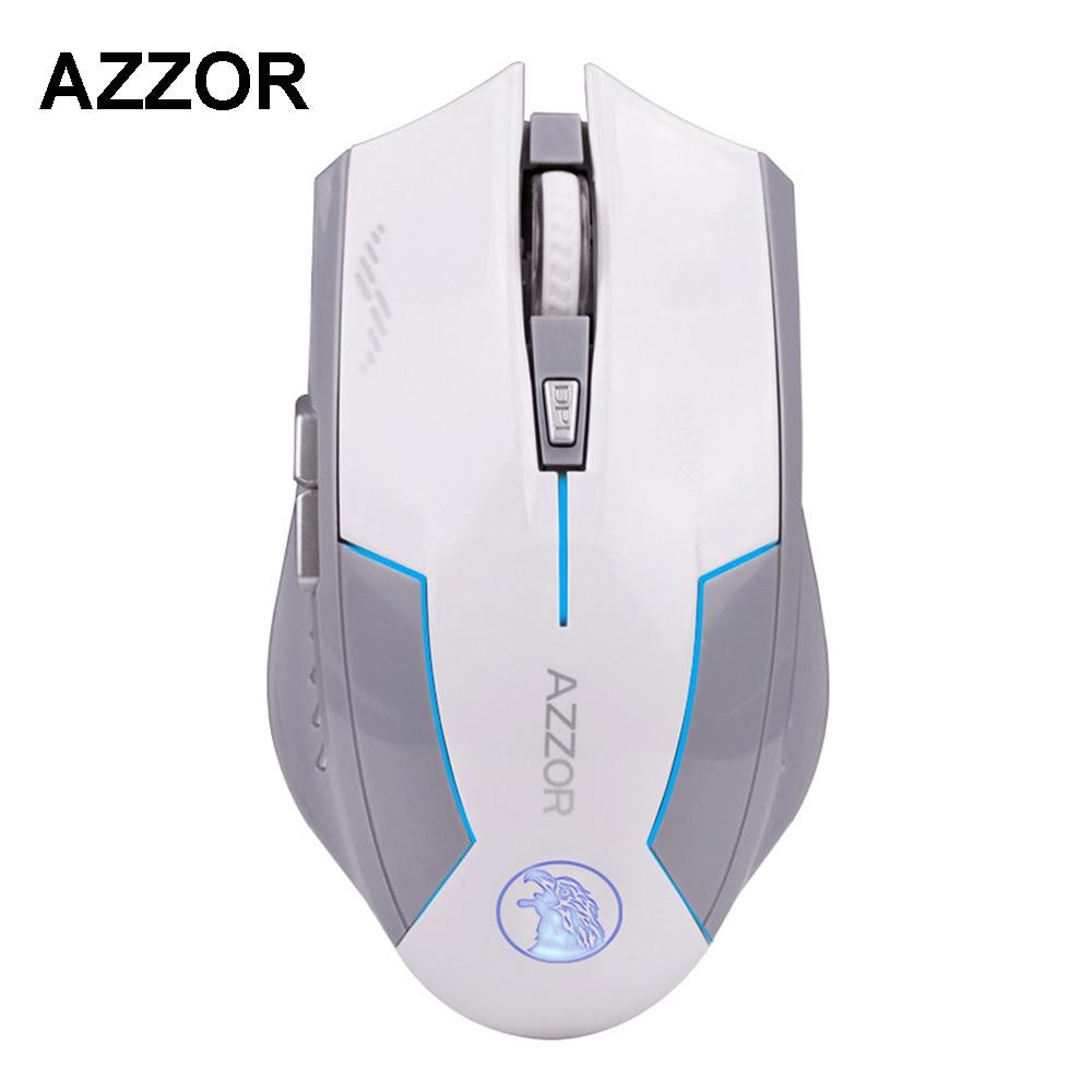 AZZOR Rechargeable Sans Fil Souris Slient Bouton Ordinateur Gaming 1600 DPI Batterie Intégrée avec De Charge Câble Pour PC Ordinateur Portable