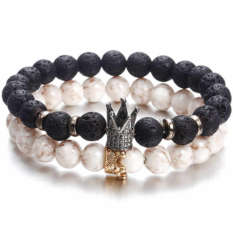 New Fashion Beaded Women Men  Bracelets Simple Classic Round Bead Charm Bracelets & Bangles For Men  Handmade Accessories Gift