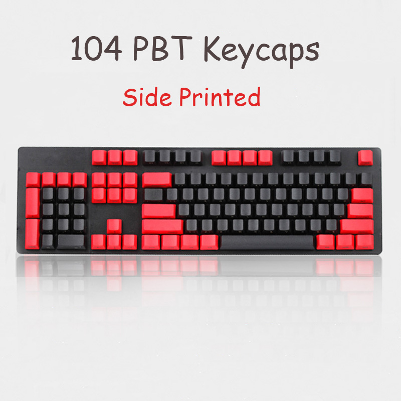 104 DIY Keyboard Key Caps Thick PBT Profile OEM Height Side Printed Keycaps For Cherry MX Mechanical keyboard for Filco цена