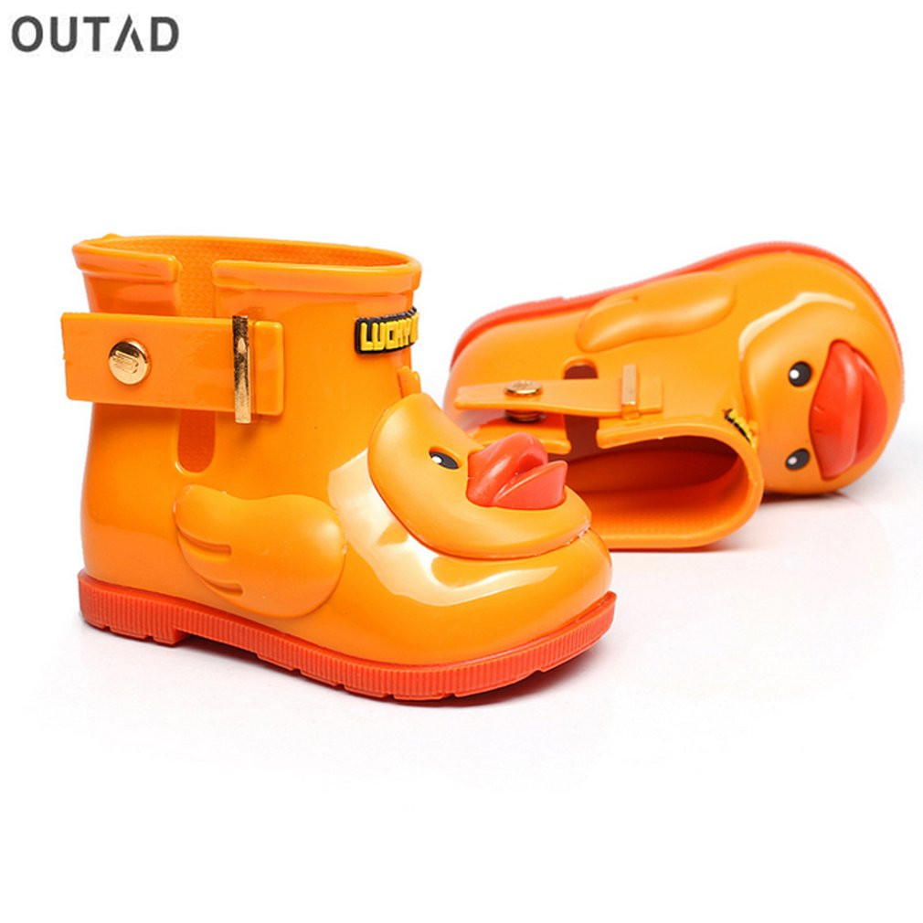 Waterproof Children Rain Boots Anti slip Children s Water Shoes with Duck  Pattern Unisex for Boys   Girls Baby Kids Rain Shoes-in Boots from Mother    Kids ... eba0f30d39eb