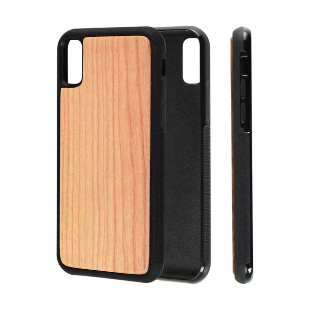 more photos 526c7 328e0 US $8.68  Newest U&I Bamboo Wood Phone Case for iPhone X Apple iX Plain  Walnut Cherry Rosewood Full TPU Protection Cover Blank Capa Fundas-in  Fitted ...