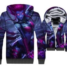 2019 long sleeve thick hip-hop jackets man Competitive game 3D prints hoodies men harajuku hooded coats male wool liner clothing цена и фото