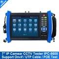 7 Дюймов Сенсорный Экран Многофункциональный Тестер Ip-камера POE Onvif мощность Wifi Кабель UTP CCTV Тестер Видео Записи И PTZ протокол