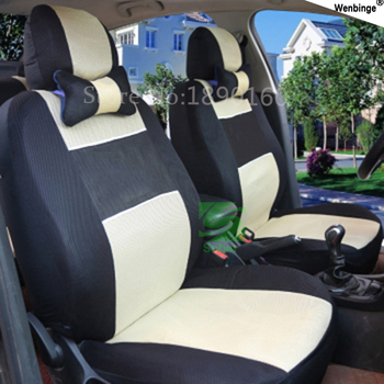 (Front + Rear) Universal Car seat covers complete 5 Seat For geely emgrand EC7 EC8 car accessories auto sticker