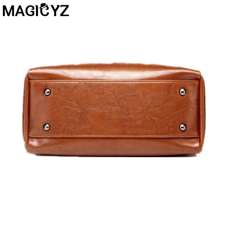 b766997de217 MAGICYZ Fashion luxury ladies messenger bag large capacity simple Office  Lady bag Oil wax Women s Leather Handbags